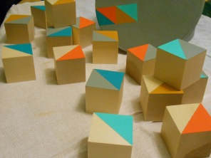 Wooden blocks for Oliver.