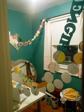 I sewed this paper garland for my friend Kristy out of cards she'd received during her battle with cancer.