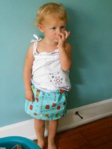 Sewed a skirt for Miss Margot.